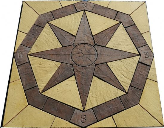 Octagonal Compass Feature